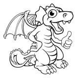 Cartoon Dragon. A cute cartoon red dragon character giving a thumbs up Royalty Free Stock Photo