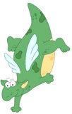 Cartoon dragon dancing on the floor Stock Photography