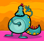 Cartoon dragon funny fantasy creature Royalty Free Stock Images