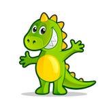 Cartoon dragon. Stock Photography