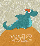 Cartoon dragon illustration 2012 Stock Image