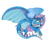 Cartoon dragon of the lord of the sky and air Stock Images