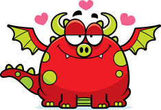 Cartoon Dragon in Love Royalty Free Stock Photo