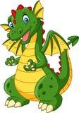 Cartoon dragon posing isolated on white background. Illustration of Cartoon dragon posing isolated on white background vector illustration