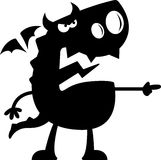 Cartoon Dragon Silhouette Angry Stock Images