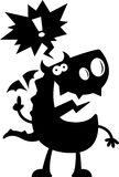 Cartoon Dragon Silhouette Talking Stock Photography
