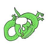 cartoon dragon with speech bubble Stock Image