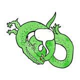 cartoon dragon with speech bubble Royalty Free Stock Photo