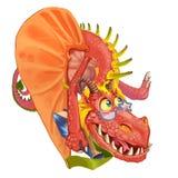 Cartoon dragon teacher Stock Images