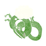 Cartoon dragon with thought bubble Royalty Free Stock Images