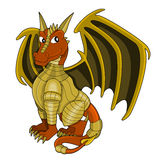 Cartoon dragon warrior royalty free illustration