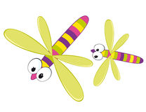 Cartoon dragonfly Stock Photos