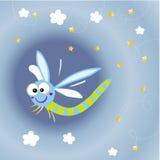 Cartoon dragonfly vector illustration