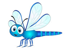 Cartoon Dragonfly Clip Art. Vector Illustration of a Cute Cartoon Dragonfly with big eyes and smile royalty free illustration