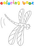 Cartoon dragonfly. Coloring book for kids Royalty Free Stock Images