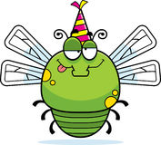 Cartoon Dragonfly Drunk Party Stock Photography