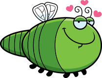 Cartoon Dragonfly in Love Stock Images