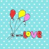 Cartoon drawing of air ballons Royalty Free Stock Photo