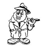 Cartoon drawing of bear Royalty Free Stock Images