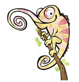 Cartoon drawing of a chameleon lizard reptile Stock Photography