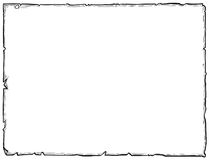 Cartoon Drawing of Empty Background Scroll royalty free illustration