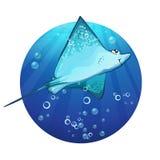 Cartoon drawing of a fish ramp.  Royalty Free Stock Photo