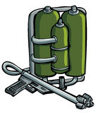 Cartoon drawing of flame thrower Stock Photography