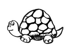Cartoon drawing of a turtle Stock Photography
