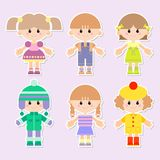Cartoon drawings of children Royalty Free Stock Photos