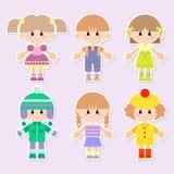 Cartoon drawings of children Royalty Free Stock Photos