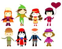 Cartoon drawings of children Stock Image