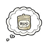 Cartoon dreaming of bread Stock Photography