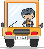 Cartoon driver,vector Royalty Free Stock Photos