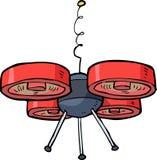 Cartoon drone quadrocopter Royalty Free Stock Photo