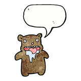 Cartoon drooling bear Royalty Free Stock Photos