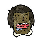 Cartoon drooling face Royalty Free Stock Image