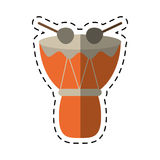 Cartoon drum djembe percussion african Royalty Free Stock Photography