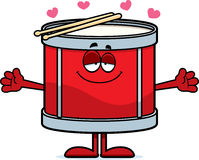 Cartoon Drum Hug Royalty Free Stock Photography