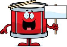 Cartoon Drum Sign Stock Image