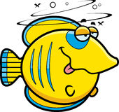 Cartoon Drunk Butterflyfish Stock Images