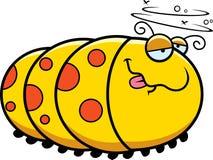 Cartoon Drunk Caterpillar Royalty Free Stock Photos