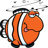 Cartoon Drunk Clownfish Royalty Free Stock Photos