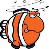 Cartoon Drunk Clownfish Royalty Free Stock Photos