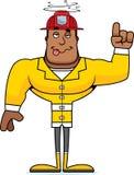 Cartoon Drunk Firefighter. A cartoon firefighter looking drunk Royalty Free Stock Image