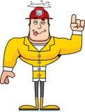 Cartoon Drunk Firefighter. A cartoon firefighter looking drunk Stock Image