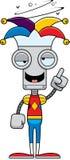Cartoon Drunk Jester Robot Royalty Free Stock Photo