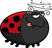 Cartoon Drunk Ladybug Royalty Free Stock Images
