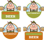 Cartoon Drunk Oktoberfest Graphic Stock Images
