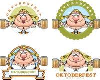 Cartoon Drunk Oktoberfest Graphic Royalty Free Stock Image