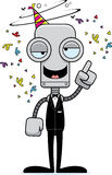 Cartoon Drunk Party Robot Stock Images